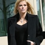Anna Nicole Smith leaves the Supreme Court in Washington DC